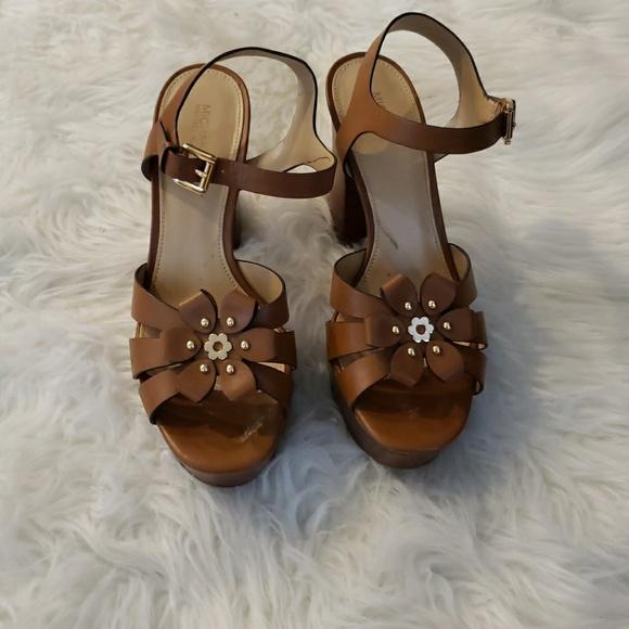 fbdbfec1178 TARA FLORAL EMBELLISHED LEATHER PLATFORM SANDAL👠.  M 5c44bcd23c98445a5452af35. Other Shoes you may like. MICHAEL KORS sandals